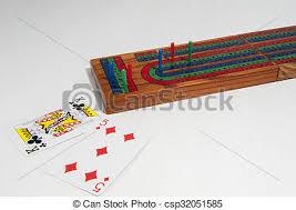 Cribbage Board Stock Photo