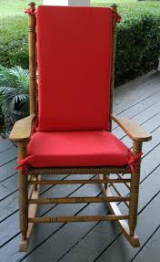 Indoor / Outdoor Solid Red Rocking Chair 2 PC Foam Cushion Set ~ Fits  Cracker Barrel Rocker