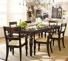 Pottery Barn White Dining Table Furniture Room Round ... Iris Dark Brown Round Glass Top Pedestal 5 Piece Ding Table Set Nice 48 Inch 9 Relaxbeautyspacom Wood Kitchen Small And Chairs Shop Wilmington Ii 60 Rectangular Antique Sage Green White Others Bright Modern Vancouver Oval Double In Oak 40x76 Copine Cheap Find Diy Plans Pdf Download Odworking Braxton Culler Room Fairwinds Roundoval