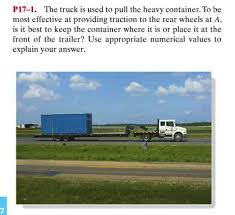 The Truck Is Used To Pull The Heavy Container. To ...   Chegg.com Truck Sales Search Buy Sell New And Used Trucks Semi Trailers 2018 Diesel Van Buyers Guide Ram Chassis Cab Heavy Duty Commercial Daycabs For Sale N Trailer Magazine Elon Musk Says Tesla Tsla Plans To Release Its Electric Semitruck Trucking Acquisitions Put Spotlight On Fleet Values Wsj 2006 Chevrolet G3500 12 Ft Box At Lease Remarketing Best Big Shop In Clare Mi Quality Tire Our Volvo Energypac Power Generation Ltd Jac Vehicle Bangladesh General Motors Advertising Art By Roy Frederic Heinrich 1922