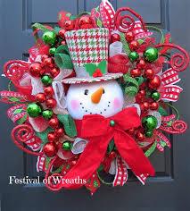 Christmas Wreath Deco Mesh Front Door