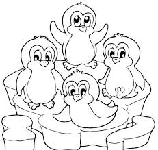Penguin Coloring Pages For Preschoolers Christmas Printable Club Colouring Baby