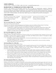 Communications Resume Examples Communication Marketing Manager Samples