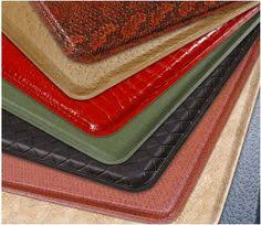 Padded Kitchen Floor Mats by Gelpro Plush Ostrich Atlantic Blue Gel Mats The Ultimate Comfort