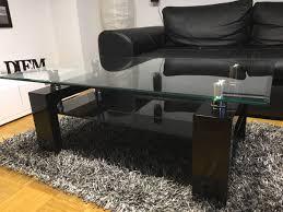 glastisch wohnzimmer schwarzes glas
