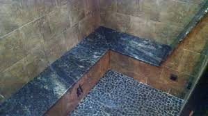 steam room tile detail picture of the lewis clark motel of