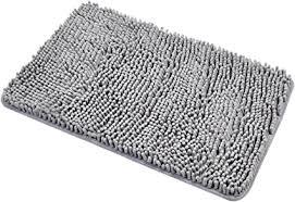 diossad badteppich grau polyesterfaser weiche shaggy saugfähige wasser anti beleg haushalt badezimmer teppich 60 40 cm polyester 60 x 40 x 3 cm