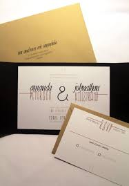 Modern Rustic Wedding Invitation Pocketfold Custom Invites Black And White Kraft Paper Industrial Chic Stationery Party Weddings