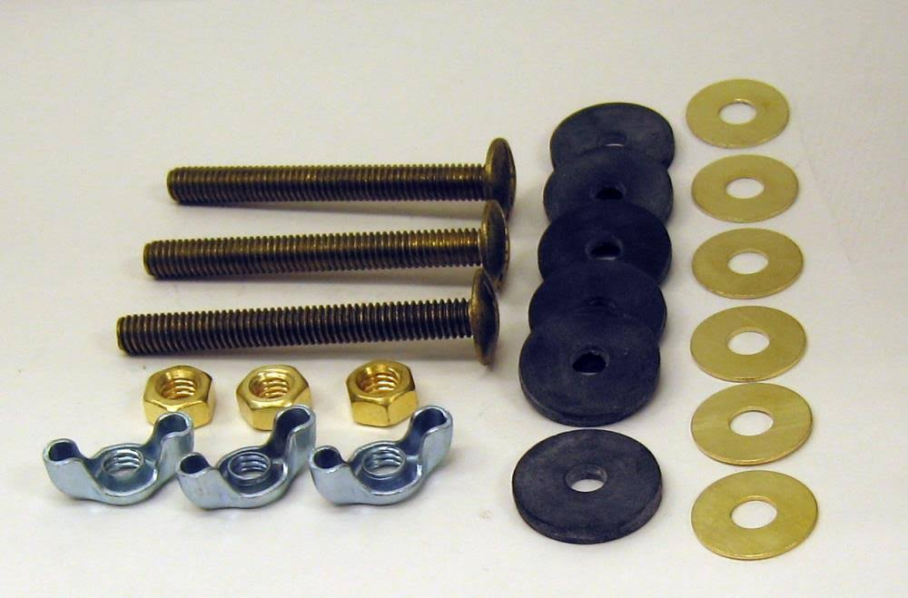 Fluidmaster Tank-To-Bowl Kit - 3 Solid Brass Bolts