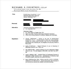 Resumes For Lawyers Free Lawyer Resume Template Attorney Examples