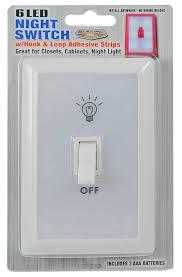 panda wall switch light nightlight 6 led aaa batteries