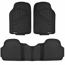 100 Heavy Duty Truck Floor Mats Motor Trend MT773BK FlexTough Baseline Rubber For Car SUV Van 100 Odorless All Weather Protection