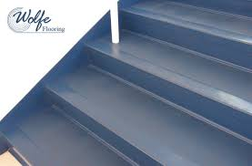08 Commercial Roppe Rubber Flooring On Stair Treads Risers And Stringers