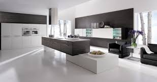 Black Modern Kitchen Interior Design Photo