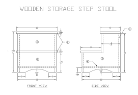 learn how to make a wooden storage step stool free woodworking
