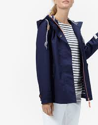 coast french navy waterproof hooded jacket joules us coats