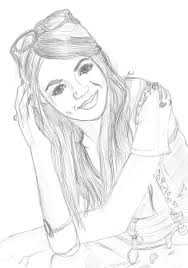 Colouring Pages Victorious Victoria Justice By Hannahloulou On Deviantart