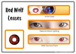 Halloween Contacts Cheap No Prescription by Red Wolf Eyes Crazy Halloween Contacts Pair Redwolf 29 99