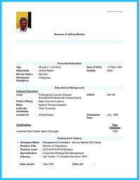 Beautiful Resume Format For Call Center Job Fresher Sample Freshers