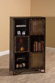 Tall Accentt Hillsdale Furniture Living Room Bridgewater Round Corner Storage Accent Cabinet