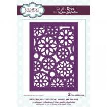 Lisa Horton Background Collection Snowflake Rounds Craft Die