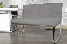elegante sitzbank hton mit rückenlehne strukturstoff grau