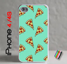 Apple iPhone 4 4S Yummy Cheese Pizza Slices Case Nom Nom Cover