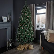 7ft Christmas Tree by 7ft Cannock Pre Decorated Christmas Tree Departments Diy At B U0026q
