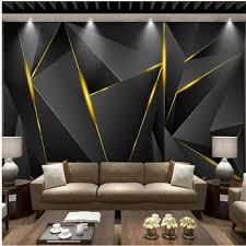 großhandel individuelle tapeten moderne schwarze gold atmosphärischen hintergrund wand 3d hintergrundwand für wohnzimmer moderne tapeten malerei