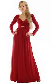 long sleeve red maxi dress dresscab