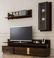 casa padrino luxus wohnzimmer tv schrank set braun grau gold 1 tv schrank 1 hängeschrank 1 wandregal edles wohnzimmer möbel set luxus