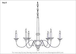 Learn How To Draw A Chandelier Furniture Step By Drawing