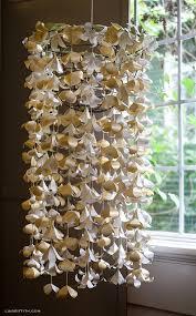 DIY Paper Flower Chandelier