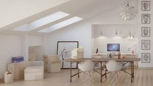 Lighting For Sloped Ceilings by 4 Stylish Homes With Slanted Ceilings