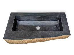 naturstein waschbecken naturstein flussstein 80cm gäste wc badezimmer rbs1137
