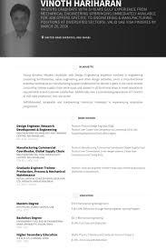 Design Engineer Research Development Engineering Resume Example