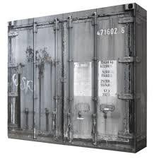 kleiderschrank container optik 4 türen b 237 cm kinder und jugendzimmer schlafzimmer drehtürenschrank wäscheschrank