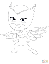 Click The Owlette From PJ Masks Coloring Pages To View Printable Version Or Color It Online Compatible With IPad And Android Tablets