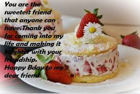Birthday Wishes With Cake For Best Friend