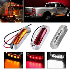 100 Truck License 10pcs Parking Light 10 30V 4Led Side Clearance Marker Light Car
