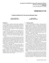 bureau veritas brest characterization of polyester mooring lines
