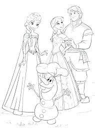 Frozen And Coloring Pages Printable Best Free 1 Anna Elsa Baby Page Princess Edition