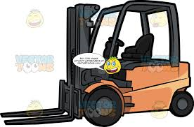100 Powered Industrial Truck A Forklift Clipart Cartoons By VectorToons