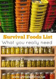 Survival Foods List What You Need To Stockpile