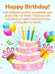 To the Best Future Happy Birthday Wishes Card for Friends