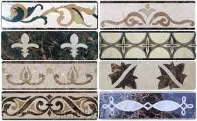 Home Molding Border Waterjet Marble For Wall And Flooring Decorative Multicolor Flower Pattern Xiamen Winggreen