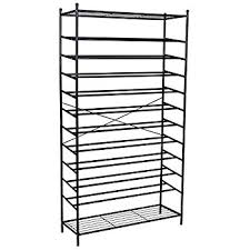 Songmics XXL 12 Tier Metal Shoe Rack Storage Organiser Stand