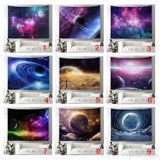 großhandel galaxy tapestry wandbehang space theme print ansicht der planeten earth science room schlafzimmer wohnzimmer wohnheim dekor 51 59