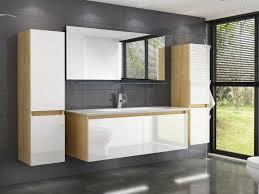 homeline badmöbel set leonard badmöbel set eiche artizan weiss hochglanz badezimmermöbel 6 teilg leonard 120 cm 6 tlg kaufen otto