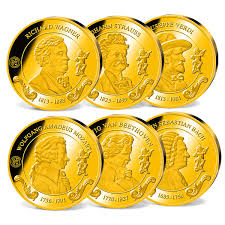 6er KomplettSet Kursmünzen